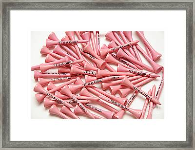 Its A Girl Golf Tees Framed Print by Andee Design