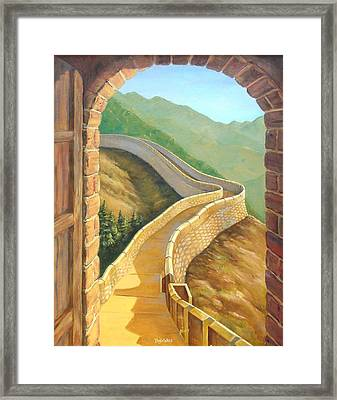 It's A Great Wall Framed Print by Tanja Ware