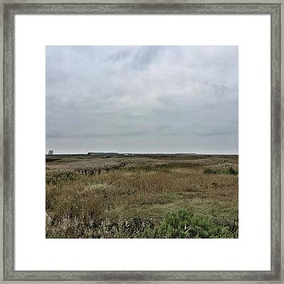 It's A Grey Day In North Norfolk Today Framed Print by John Edwards