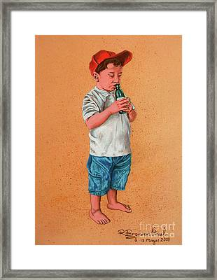 It's A Hot Day - Es Un Dia Caliente Framed Print