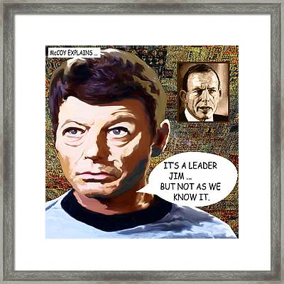 Its A Leader Jim Framed Print by Chas Hauxby