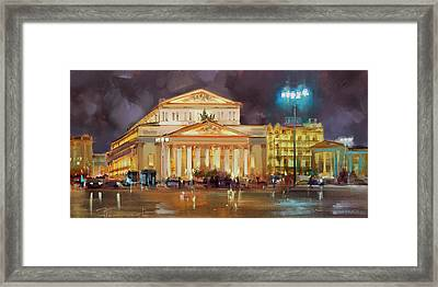 It's A Long Evening. Theatre Square. Framed Print
