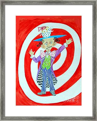 It's A Mad, Mad, Mad, Mad Tea Party -- Humorous Mad Hatter Portrait Framed Print by Jayne Somogy