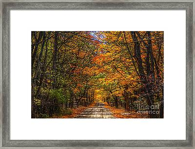 Its A Michigan Fall Framed Print by Robert Pearson