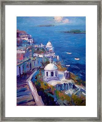 Its A Santorini Kind Of Mood Framed Print by R W Goetting