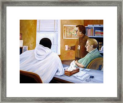 It's A Tough Job At The County Framed Print