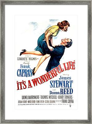 Its A Wonderful Life, Donna Reed, James Framed Print