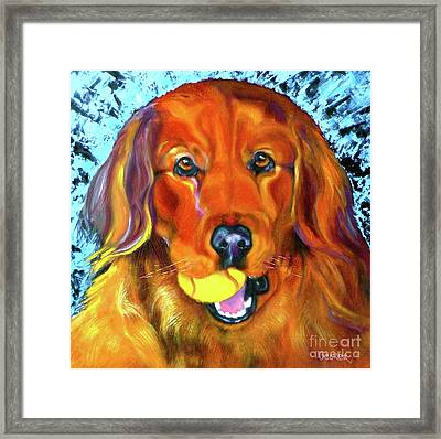 It's About The Ball Framed Print by Susan A Becker