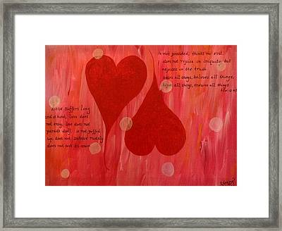 Its All About Love Framed Print by Sheila Yackley Prophetic Pieces