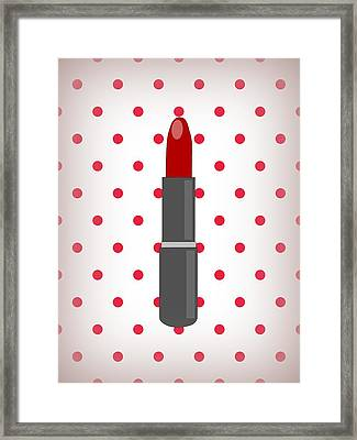 Its All About The Lips Framed Print