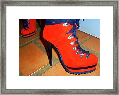 Its All About The Shoes Framed Print by Randall Weidner