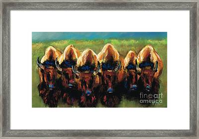 Its All Bull Framed Print by Frances Marino