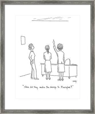It's Always Something Framed Print