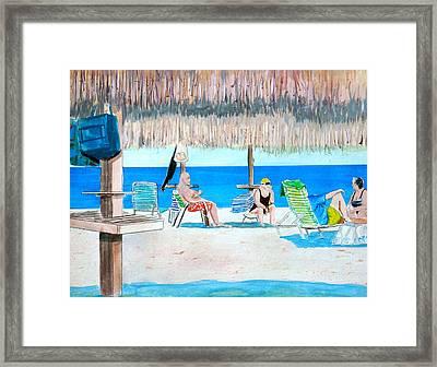 It's Always Sunny In Aruba Framed Print