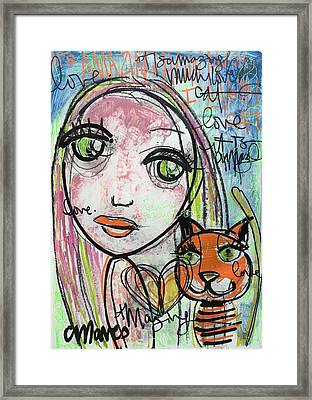 It's Amazing How Much I Love My Cat Framed Print by Laurie Maves ART