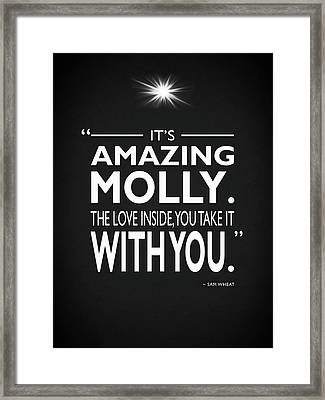 Its Amazing Molly Framed Print