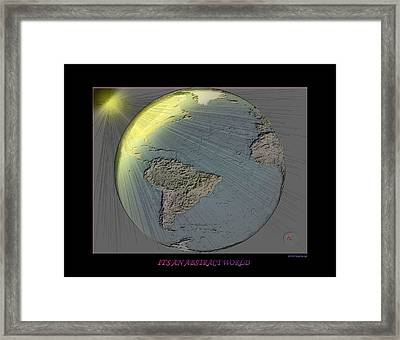 It's An Abstract World Framed Print