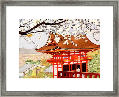 Its Cherry Blossom Time Framed Print