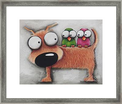 Its Cold Without You Framed Print by Lucia Stewart