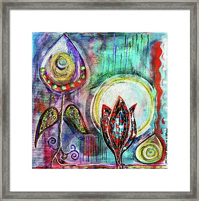 Framed Print featuring the mixed media It's Connected To The Moon by Mimulux patricia no No