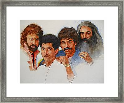 Framed Print featuring the painting Its Country 4 - Oakridge Boys by Cliff Spohn