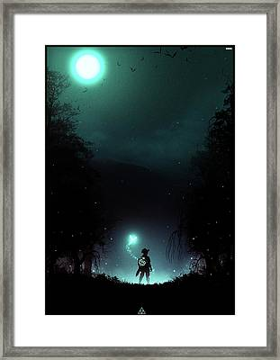 It's Dangerous To Go Alone Framed Print by Colin Morella
