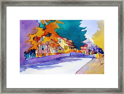It's Downhill From Here Framed Print by Virgil Carter