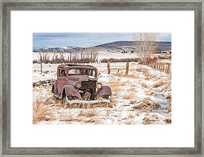 It's Getting Harder To Hold Things Together Framed Print by Sue Smith