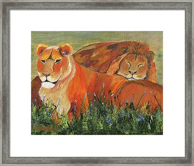 Framed Print featuring the painting It's Good To Be King by Jamie Frier