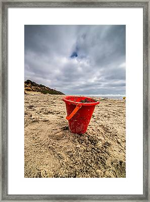 Its Good You Went To The Beach You Look A Little Pail Framed Print by Peter Tellone