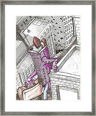 Its Illusions Were Gone Framed Print by Jeremiah Strickland