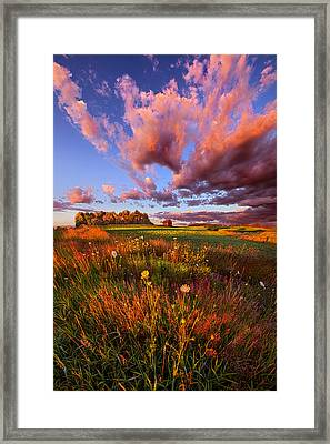 It's Like Going To Heaven With Your Feet Still On The Ground Framed Print by Phil Koch