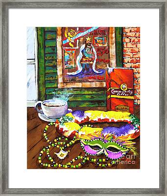 It's Mardi Gras Time Framed Print
