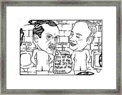 Its Not The Size Of The Boat. By Yonatna Frimer Framed Print by Yonatan Frimer Maze Artist