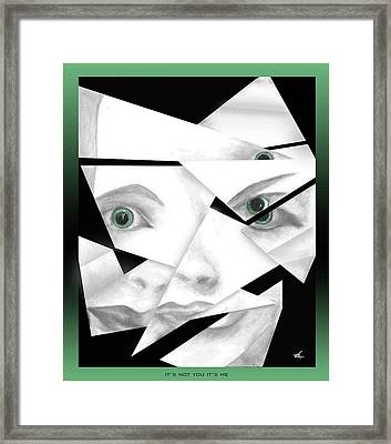 It's Not You It's Me Framed Print
