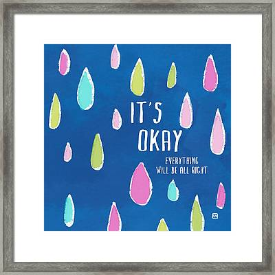 Framed Print featuring the painting It's Okay by Lisa Weedn