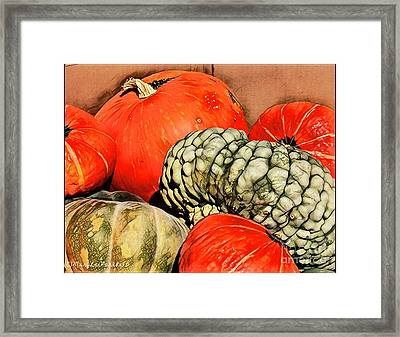 It's Pumpkin  Season Framed Print