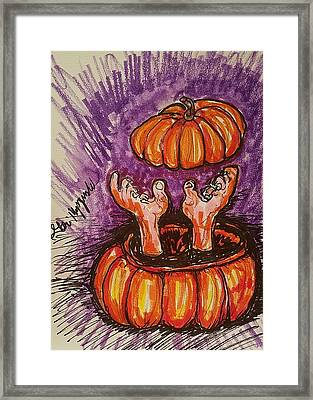 It's Pumpkin Time Framed Print by Geraldine Myszenski