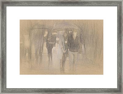 It's Raining In Georgia Framed Print by Angela A Stanton