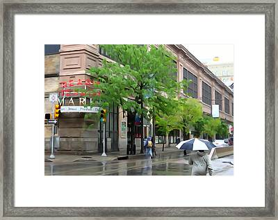 Its Raining In Philly Framed Print by Michael Wilcox