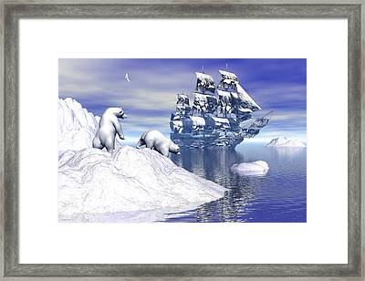 Its Really Cold Framed Print by Claude McCoy