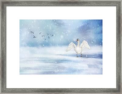 It's Snowing Framed Print