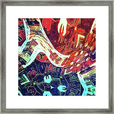 Foot Fall Framed Print by Gina Callaghan