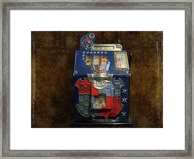 It's Your Dime-1936 Antique Slot Machine Framed Print by Donna Kennedy