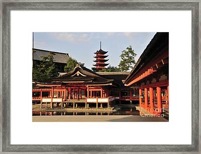Itsukushima Shrine Miyajima Japan Framed Print
