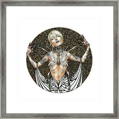 Itzpapalotl Framed Print by Daniel Schneider