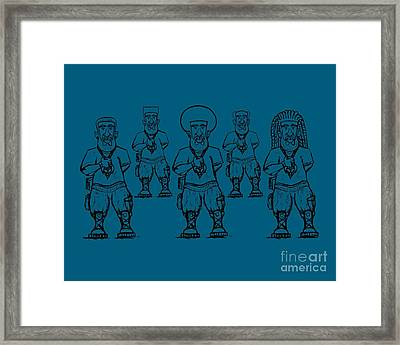 Iuic Soldier 1 W/outline Framed Print