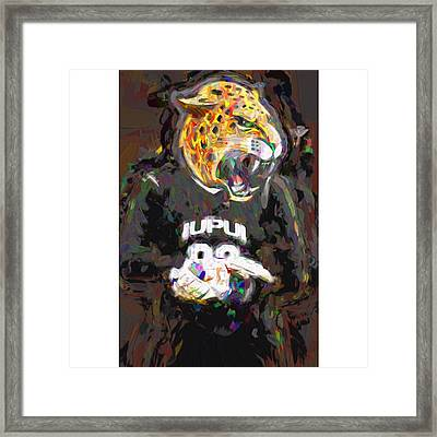 @iupui #iupuijaguars #iupui #jaguars Framed Print