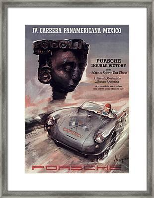 Iv Carrera Panamericana Porsche Poster Framed Print by Georgia Fowler