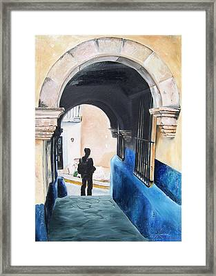 Ivan In The Street Framed Print by Laura Pierre-Louis